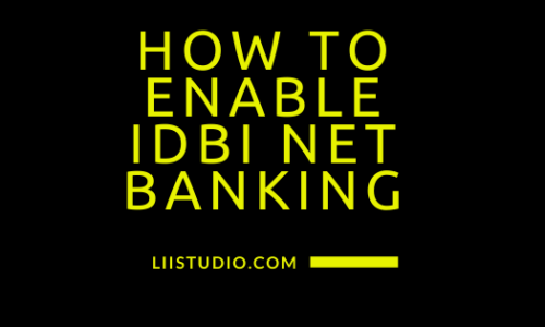 How to enable idbi net banking