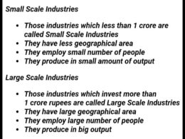 Difference between Small Scale and Large Scale Industry